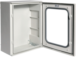 FL263B Polyester enclosure,  Orion.Plus,  glazed door 500x400x200 mm