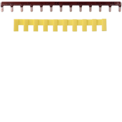 KB163P Insulated busbar 1P 63A prong 10mm² brown 13M