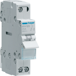 SFH125 1-pole,  25A Modular Changeover Switch with Top Common Point