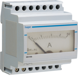 SM050 Analogue ammeter 0-50A indirect reading
