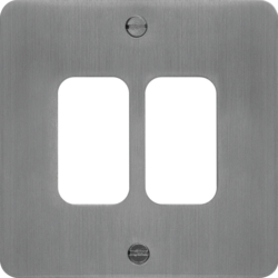 WFGP2BS Grid Front Plate 1 X 2 Brushed Steel