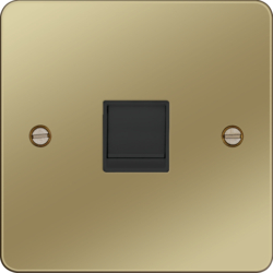 WFRJ45PBB RJ45 Socket Polished Brass Black Insert
