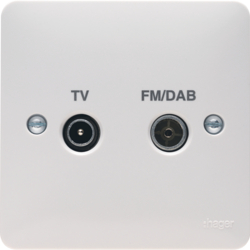 WMDX Double TV & FM/DAB Co-Ax Socket Outlet