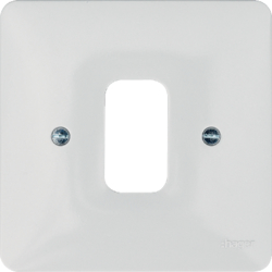 WMGP1 1 Gang White Moulded Grid Plate