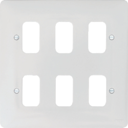 WMGP6 6 Gang White Moulded Grid Plate