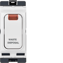 WMGSDP2N/WD 20A 1 Way Double Pole Switch with LED Indicator Marked 'WASTE DISPOSAL'