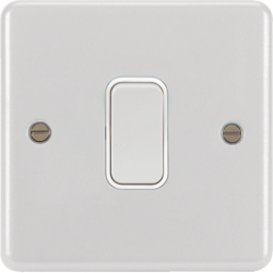 WPPS12W 10AX 1 Gang 2 Way Wall Switch White