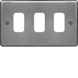 WRGP3BS Grid Front Plate 1 X 3 Brushed Steel