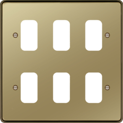 WRGP6PB Grid Front Plate 2 X 3 Polished Brass