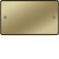 WRP2PB Twin Blank Plate Polished Brass