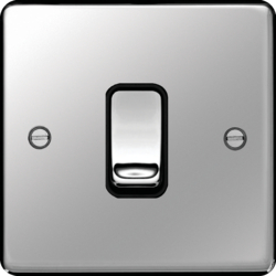 WRPS16PSB Intermediate Switch Polished Steel Black Insert