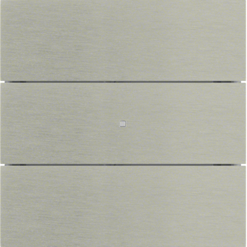 75163593 B.IQ push-button 3gang comf,  KNX - B.IQ,  stainless steel,  metal brushed