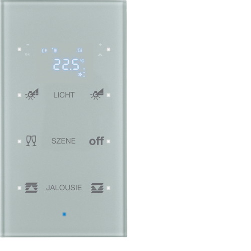 75643134 KNX glass sensor 3g thermostat,  display,  intg bus coupl. , KNX-TS sensor,  al.