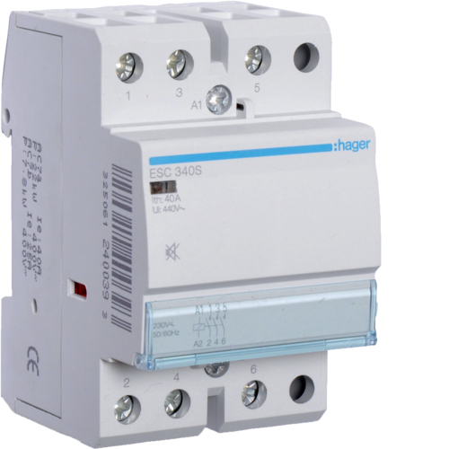ESC340S Humfree Contactor 40A,  3NO,  230V~50/60Hz