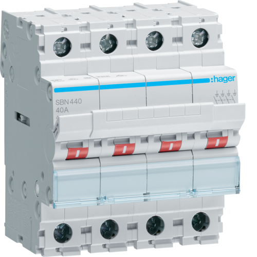 SBN440 4-pole,  40A Modular Switch
