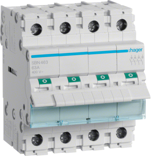 SBN463 4-pole,  63A Modular Switch