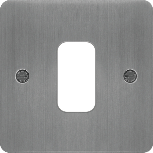 WFGP1BS Grid Front Plate 1 X 1 Brushed Steel