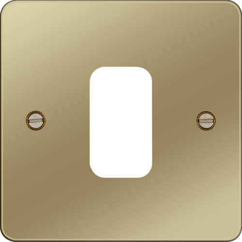 WFGP1PB Grid Front Plate 1 X 1 Polished Brass