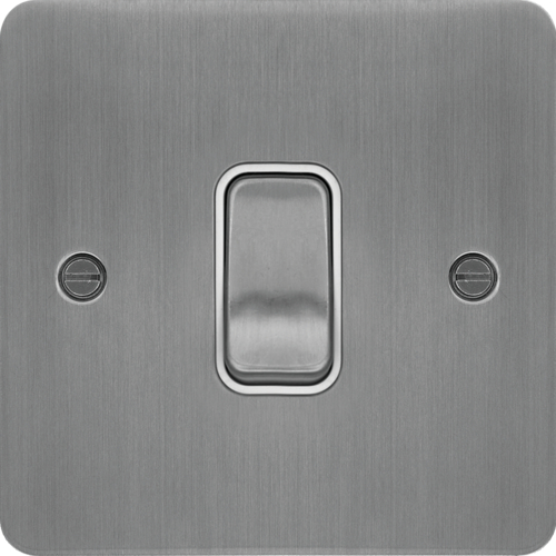 WFPS16BSW Intermediate Switch Brushed Steel White Insert