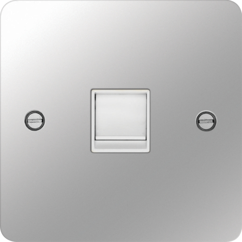 WFRJ45PSW RJ45 Socket Polished Steel White Insert