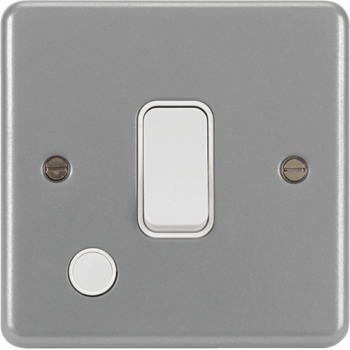 WPDP84FOB 20A Double Pole Switch with Flex Outlet & Back Box without Knockouts