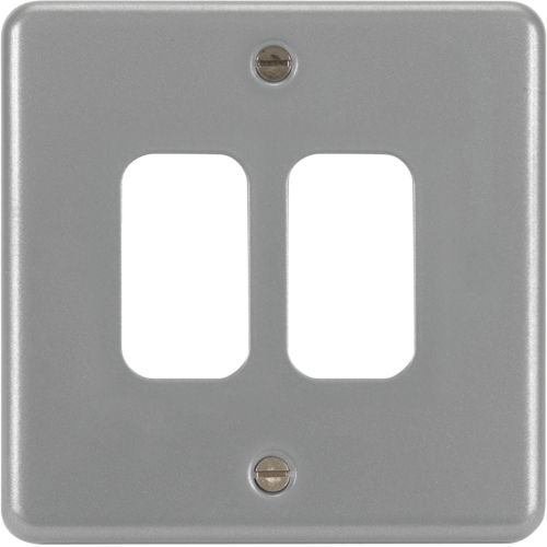 WPGP2BW Grid plate 2G & Back Box without Knockouts White