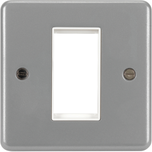 WPP1EUB 1 Module Euro Style Accomodation Plate & Back Box without Knockouts