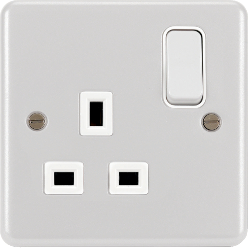 WPSS81W 1 Gang Double Pole Switched Socket White
