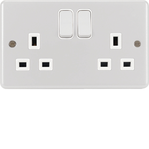 WPSS82W 2 Gang Double Pole Switched Socket White