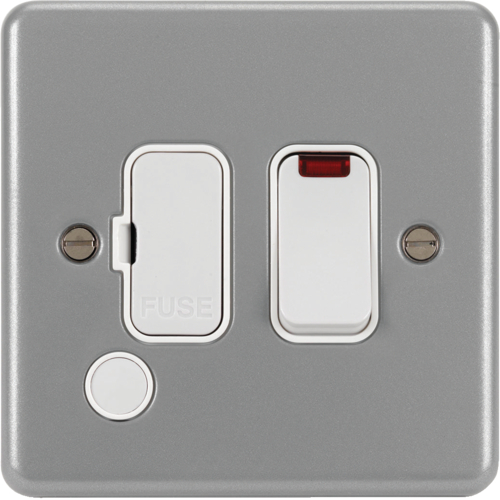 WPSSU83FONBKO 13A FCU Switched with LED Indicator and Flex Outlet & Back Box with Knockouts