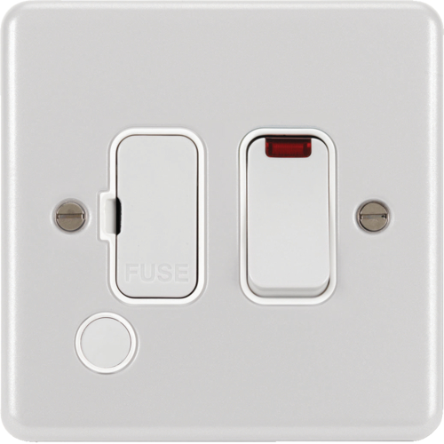 WPSSU83FONW 13A FCU Switched with LED Indicator and Flex Outlet White
