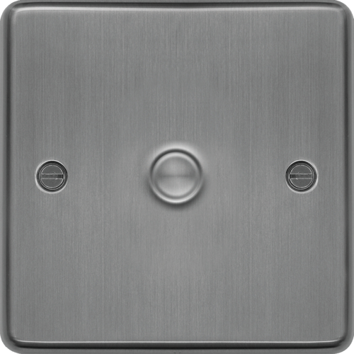 WRDS1BS 1 Gang Dimmer Switch 400W Brushed Steel