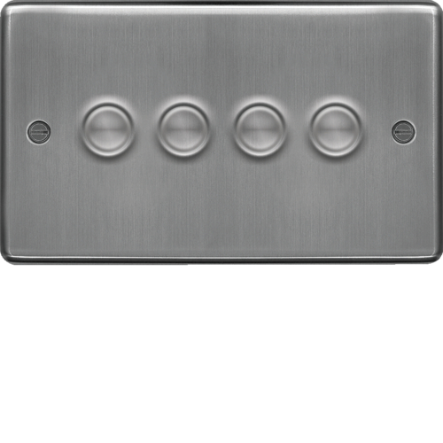WRDS4BS 4 Gang Dimmer Switch 250W Brushed Steel