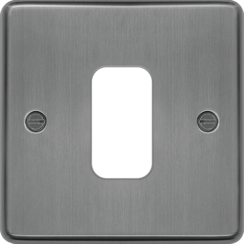 WRGP1BS Grid Front Plate 1 X 1 Brushed Steel