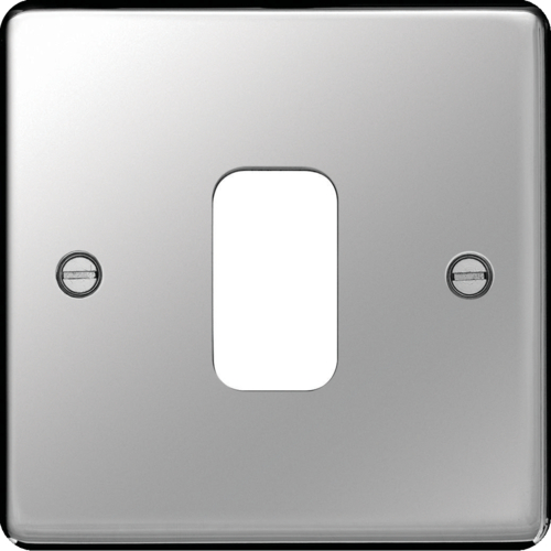 WRGP1PS Grid Front Plate 1 X 1 Polished Steel