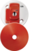 CR64AX/R 4 Pin Plug in Ceiling Rose Red