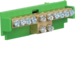 KM10E Brass terminal,  8x10mm² -2x16mm²(double drive), with mounting base,   Color: green