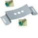 KZ060 Fixing spring for DIN rail (10 pieces), 20mm wide with screw