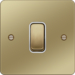 WFPS12PBW 10AX 1 Gang 2 Way Wall Switch Polished Brass White Insert