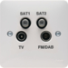 WMQX Quadplexer TV,  FM/DAB,  Satellite 1 & Satellite 2 Outlet