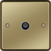 WRSATPBW F Type Satellite Outlet Polished Brass White Insert