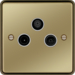 WRTXPBW Triplexer TV,  FM/DAB & Satellite Outlet Polished Brass White Insert